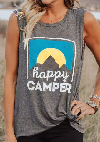 Happy camper Tank Top - Top Brook