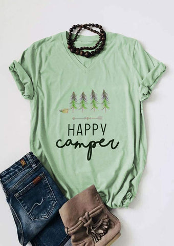 Happy Camper Women's T shirt - Top Brook