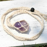 Handmade Wrap Stone Necklace Healing Natural Stone - Top Brook