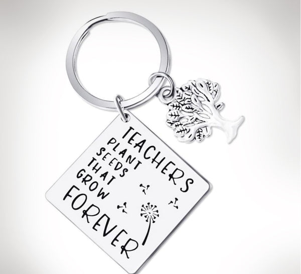 Teachers Plant Seeds That Grow Forever Keychain Gift For Teachers - Top Brook