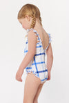 Penelope Kids Ruffle 1 PC - White/Blue