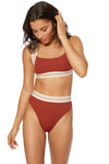 HEATHER TOP - Cinnamon - Red Carter