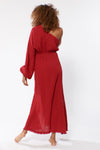 Julia Dress - Brick - Red Carter