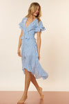 Valentina Dress - Blue/White