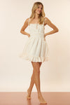 Ruby Dress - White/Gold