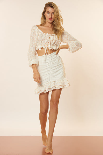 Tiffany Skirt - White/Gold