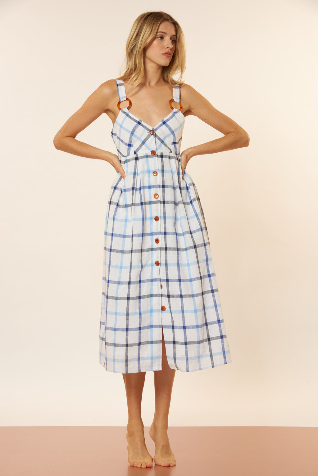 Summer Dress - Blue/White