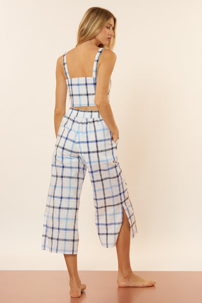 Orla Pant - Blue/White