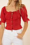 Audrey Top - Red - Red Carter
