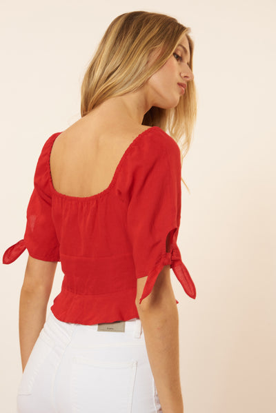 Audrey Top - Red