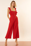 Allison Jumpsuit - Red