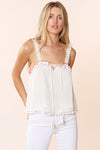 Alexa Top - Ivory - Red Carter
