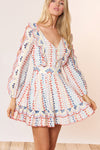 Aria Dress - Eyelet Multi