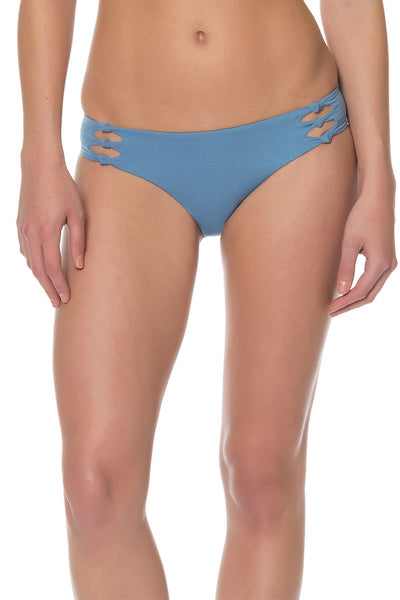 Splice & Dice Side Tie Bikini Bottom - Red Carter