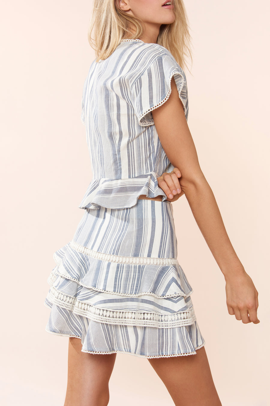Clara Skirt - Chambray Stripe