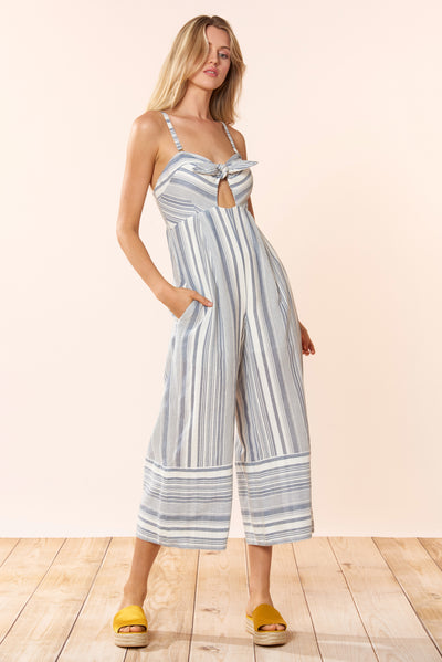 Kimberley Jumpsuit - Chambray Stripe