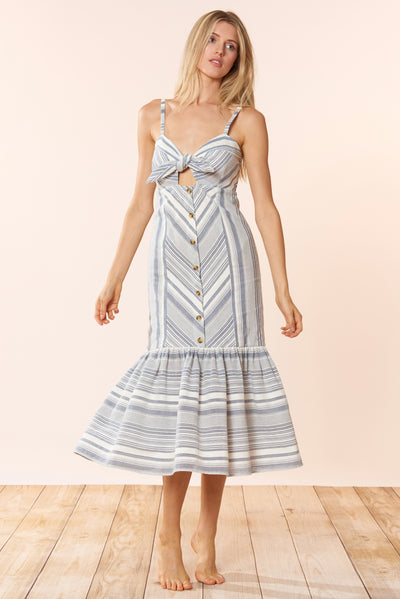 Madelyn Dress - Chambray Stripe