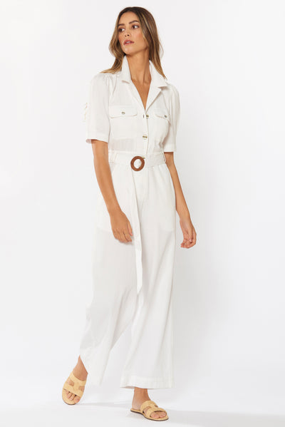 ESTHER JUMPSUIT - WHITE