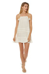Drawstring Dress Cover Up - White