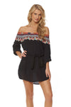 Bohemian Breeze Coverup/Pull-Over - Black Multi