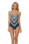 Feather Warrior Mio One Piece - Deep Lake