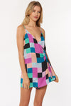 Malia Romper - Multi - Red Carter