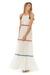 In Stitches Tiered Maxi Cover Up - White - Red Carter
