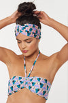 Lulu Headwrap - Multi - Red Carter