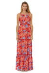 Paradiso Tiered Maxi Cover Up - Red - Red Carter