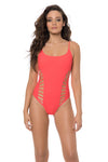 Splice & Dice One Piece - Coral