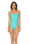 Splice & Dice Side Cut Maillot Swimsuit - Capri