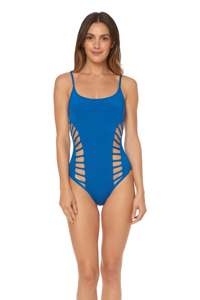 Splice & Dice Side Cut Out Maillot - Vision