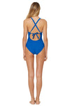 Splice & Dice Macramé High Neck Maillot - Vision