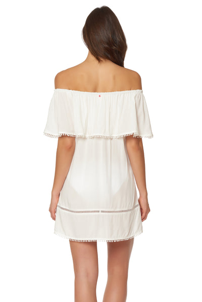 Splice & Dice Dress - Ivory