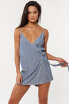 Malia Romper - Denim - Red Carter