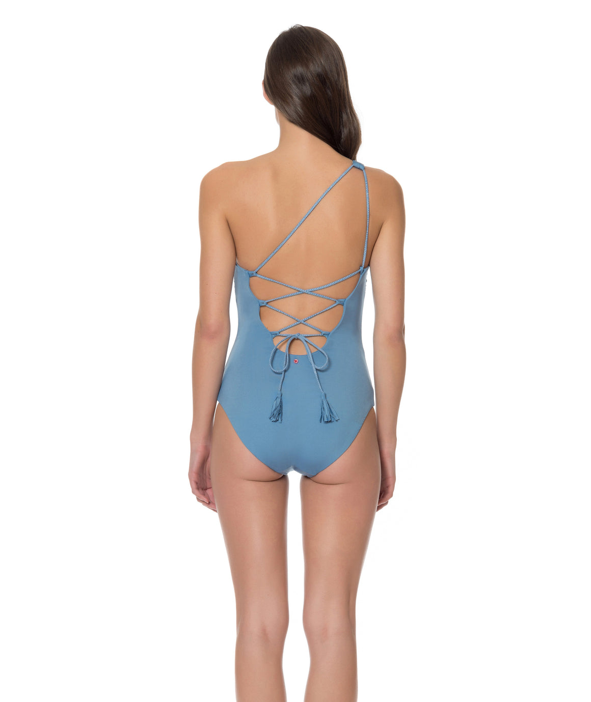 Splice & Dice One Shoulder One Piece Swimsuit