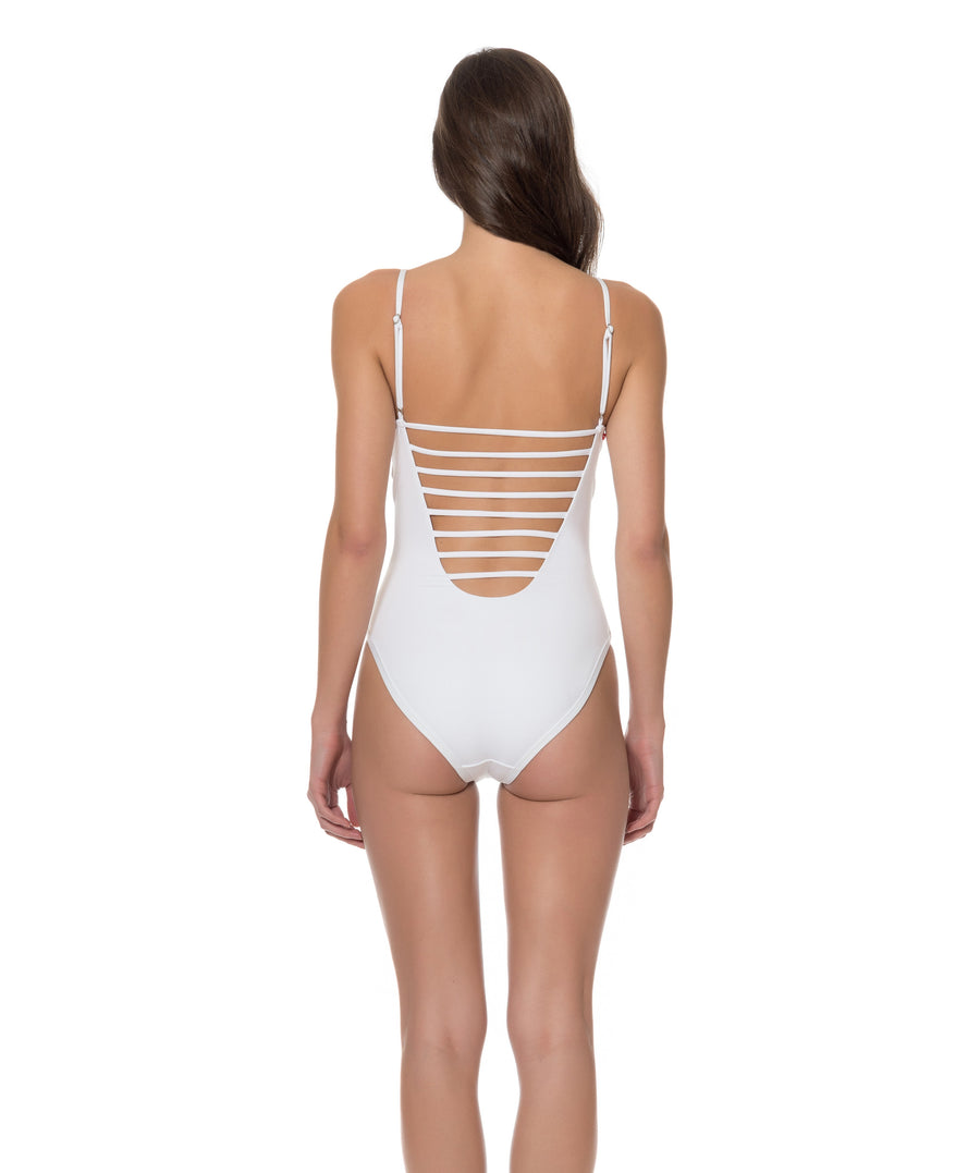 Splice & Dice Cut Out One Piece Swimsuit