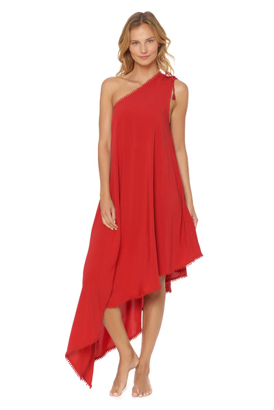Shanghai One Shoulder Maxi Cover Up