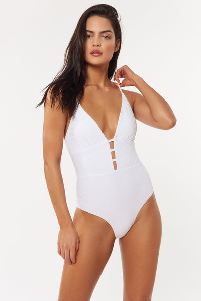 Jennifer 1 PC - White - Red Carter