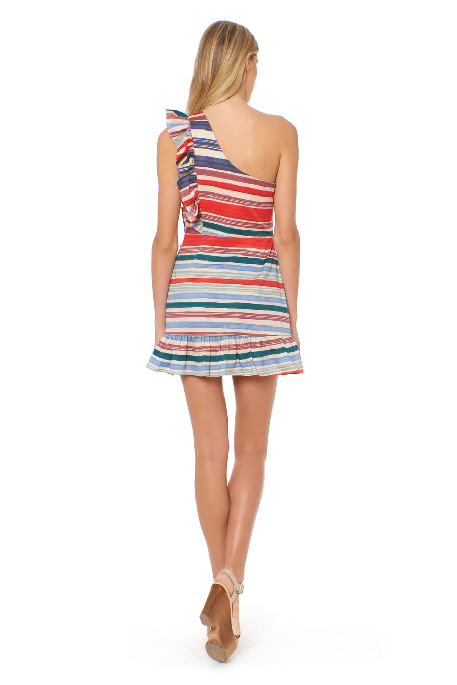 Miyah Dress - Zapata Stripe - Red Carter