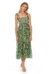 Pippi Dress - Havana Leaf - Red Carter