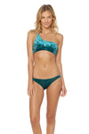 First Crush Lace Back One Shoulder Bikini Top - Emerald