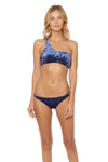 First Crush Basic Hipster Bikini Bottom - Navy - Red Carter
