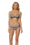 Feather Warrior Triangle Bikini Top - Deep Lake