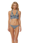 Feather Warrior Halter Bikini Top - Deep Lake