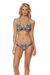Feather Warrior Classic Strap Bikini Bottom - Deep Lake