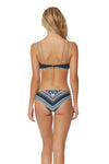 Feather Warrior Bandeau Bikini Top - Deep Lake