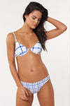 Ivy Top - White/Blue