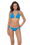 SPLICE & DICE TRIANGLE BIKINI TOP - AZURE - Red Carter