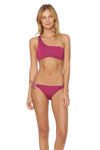 Splice & Dice Drawstring Hipster Bikini Bottom - Rose
